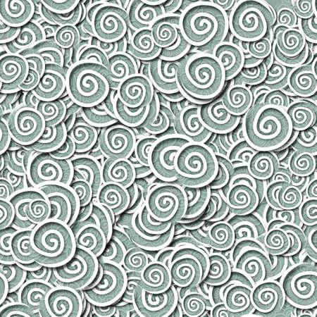 Nahtlose Muster hellgrau türkis curles Standard-Bild - 15447603