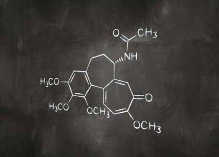 chemical formula on chalkboard photo