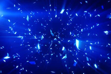 青い光沢のある紙吹雪背景