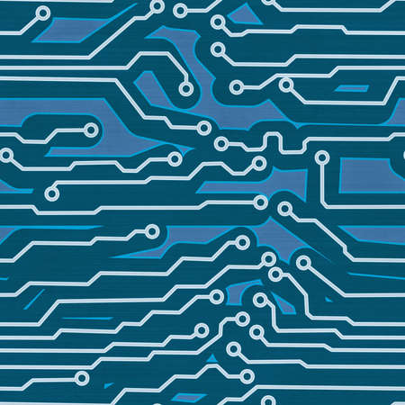 blue computer circuit board seamless background Stock Photo - 15447597