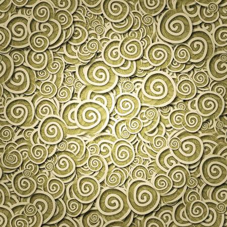 Het naadloze patroon van gele curles Stockfoto