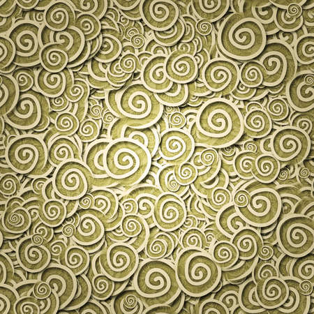 seamless pattern yellow curles