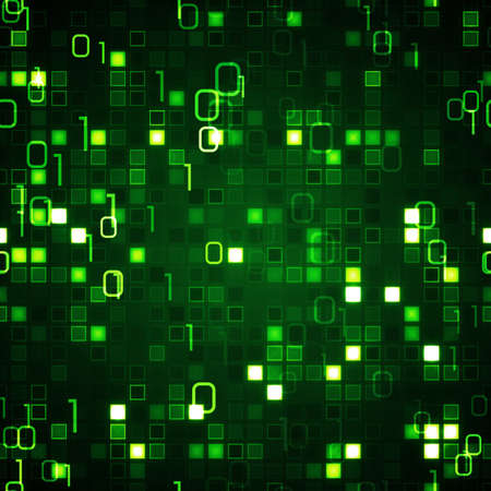 green seamless background information technology Stock Photo