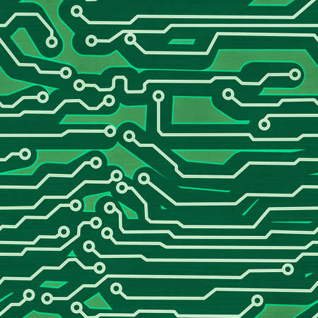 high tech device: green computer circuit board seamless background