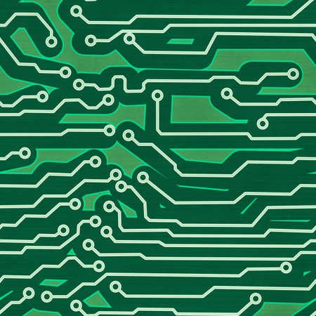 high tech device: green computer circuit board seamless background