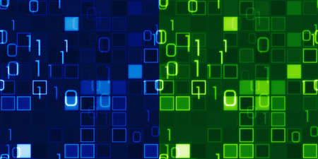 파란색과 녹색 원활한 배경 정보 기술