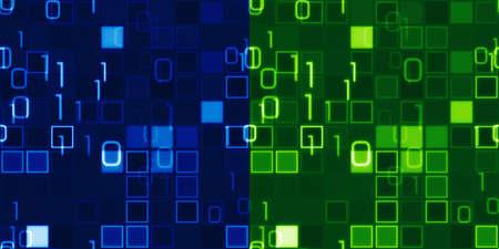 blauwe en groene naadloze achtergronden informatietechnologie