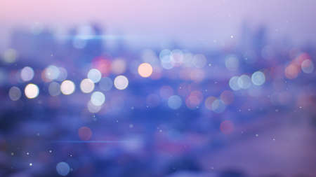 Defokussiert Lichter des Abends Stadt Standard-Bild - 41668183