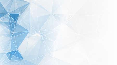 抽象的な青白の幾何学的な web の背景 写真素材