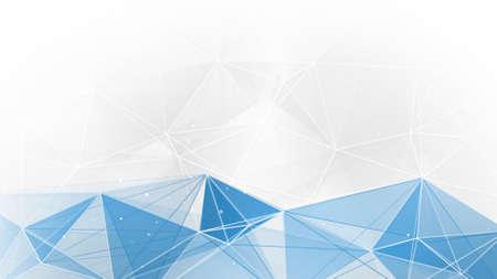 abstracte blauwe witte geometrische web achtergrond Stockfoto