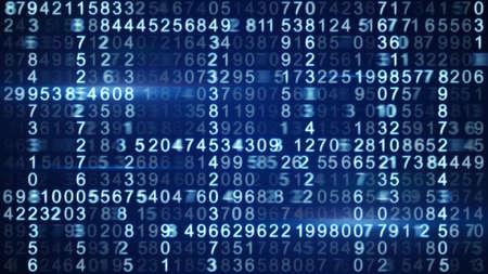 rijen van blauwe digitale code Stockfoto