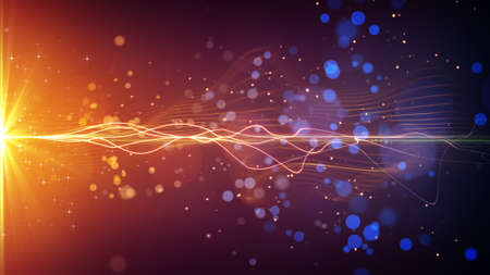 light stripe and particles. computer generated abstract background Stockfoto