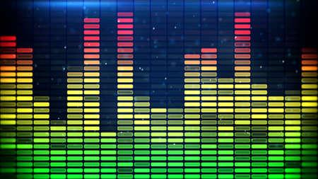 digital music: digital music equalizer classic colors