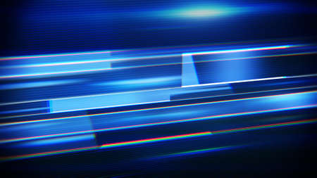 techno: blue flashing stripes. computer generated abstract techno background