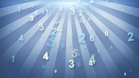 numbers falling in circular rays Standard-Bild