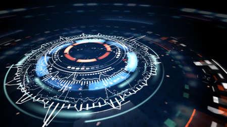 サイエンス フィクションの未来的な円形の要素 写真素材