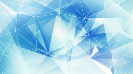 blue and white triangles web pattern. computer generated abstract geometrical background
