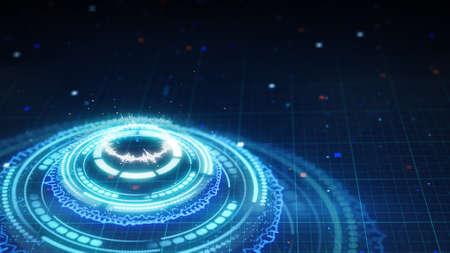futuristic background: science fiction futuristic circle shape