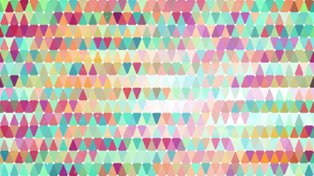 pixelation: multicolor triangles. computer generated abstract geometric background
