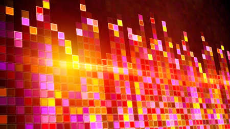 computer generated: flashing squares equalizer. Computer generated party background