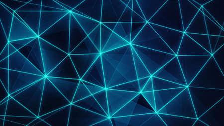 tecnología informatica: futurista brillante malla de red azul. generados por computadora resumen de antecedentes