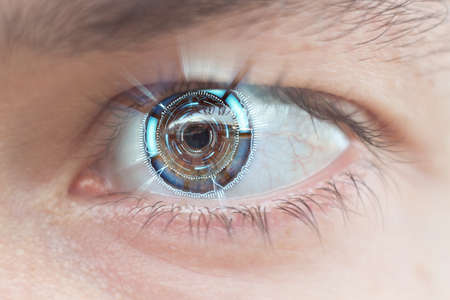 close-up of cyber eye shallow DOF
