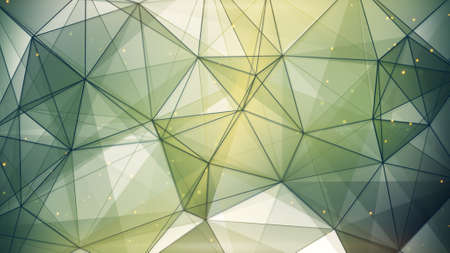 triangles: dark green triangles and lines. computer generated abstract geometric background Stock Photo