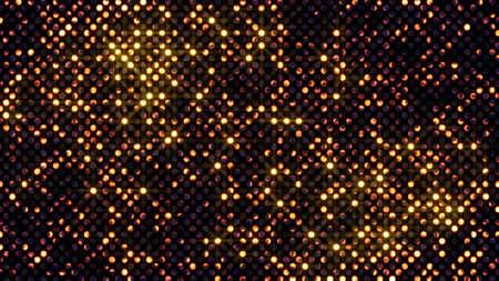 点滅して光る円壁の抽象的な背景 写真素材