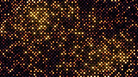 glam: flashing glowing circles wall abstract background Stock Photo