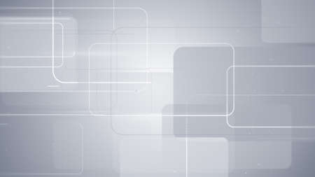 gray rectangular shapes technology background Stock Photo