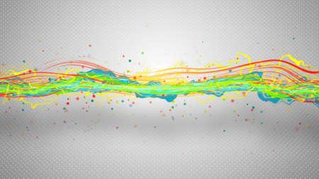 Onda de energía multicolor resumen de la ilustración Foto de archivo - 44518442