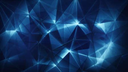 blue network: dark blue triangles network trendy abstract backgrund Stock Photo
