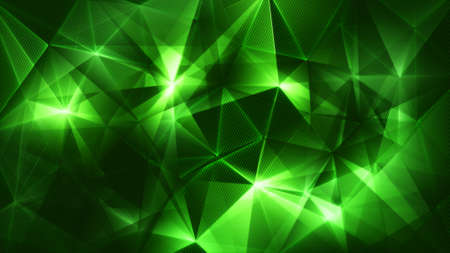 backgrund: dark green triangles network trendy abstract backgrund Stock Photo