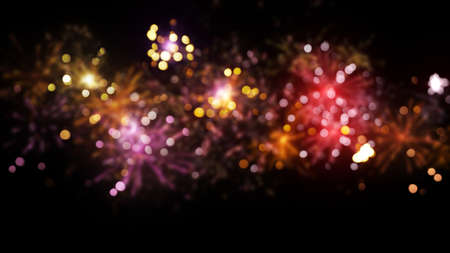 out of focus: blurred fireworks abstract christmas background