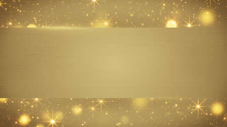 computer banner: gold blank banner. Computer generated abstract background