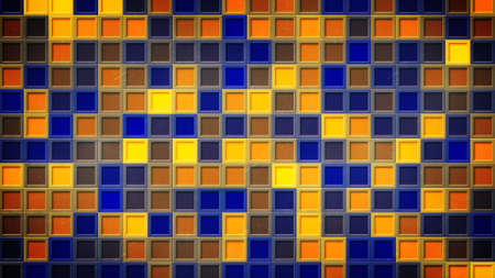 flashing: flashing blue yellow squares. computer generated abstract background