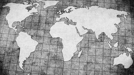 map of america: old world map grey illustration