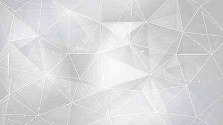 white triangles and lines. computer generated abstract geometrical background