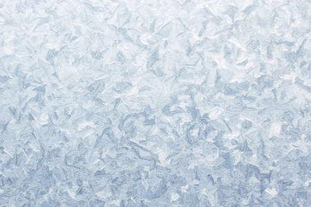 ijs patroon op bevroren venster Kerstmis achtergrond