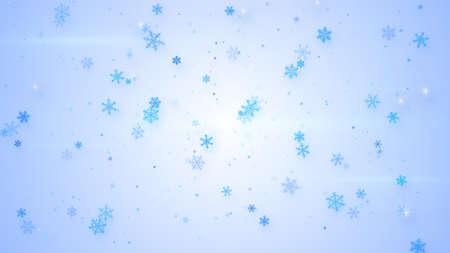 snowfall: beautiful light blue snowfall