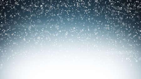 豪雪。コンピューター生成されたクリスマスの背景