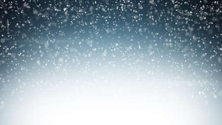 snow falling: heavy snowfall. Computer generated christmas background