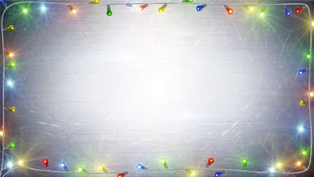 christmas lights background: christmas lights frame. computer generated festive background Stock Photo