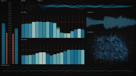 interface: analysis data technology interface. computer generated abstract illustration