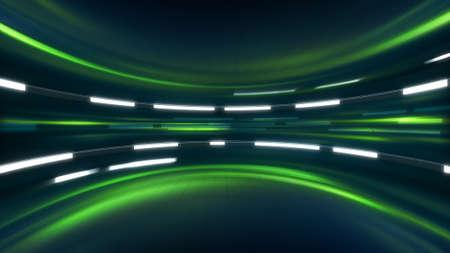 グリーン サイエンス フィクションの背景。コンピューター生成された抽象的なイラスト