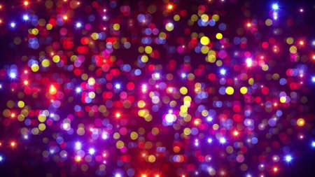 disco party light flashes and bokeh. computer generated abstract background