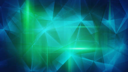 satined: glossy blue green triangles abstract background Stock Photo