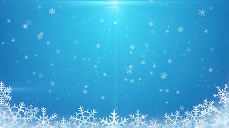 holiday celebration: snowflakes on blue background