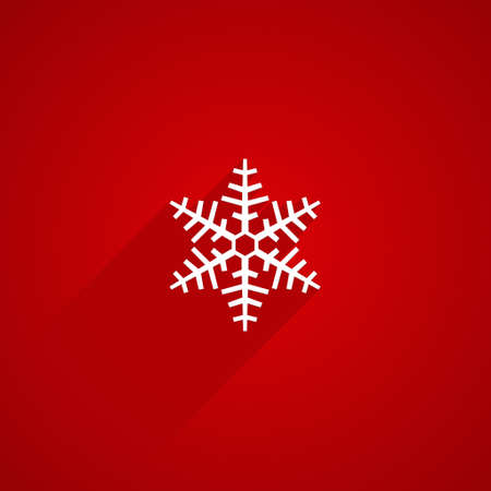 red shape: snowflake shape with long shadows on red