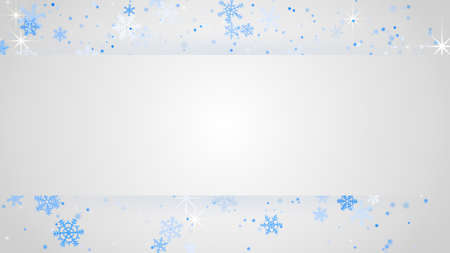 computer banner: white banner and snowfall. Computer generated abstract christmas background